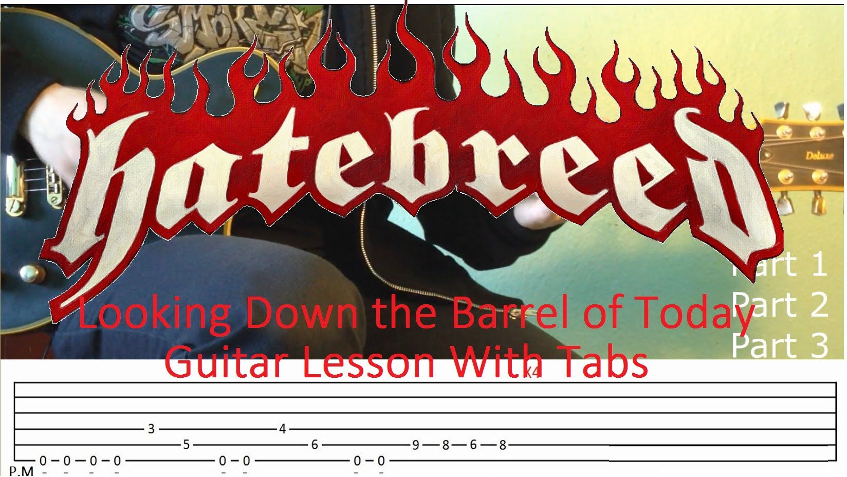 Hatebreed Looking Down the Barrel of Today Guitar Lesson