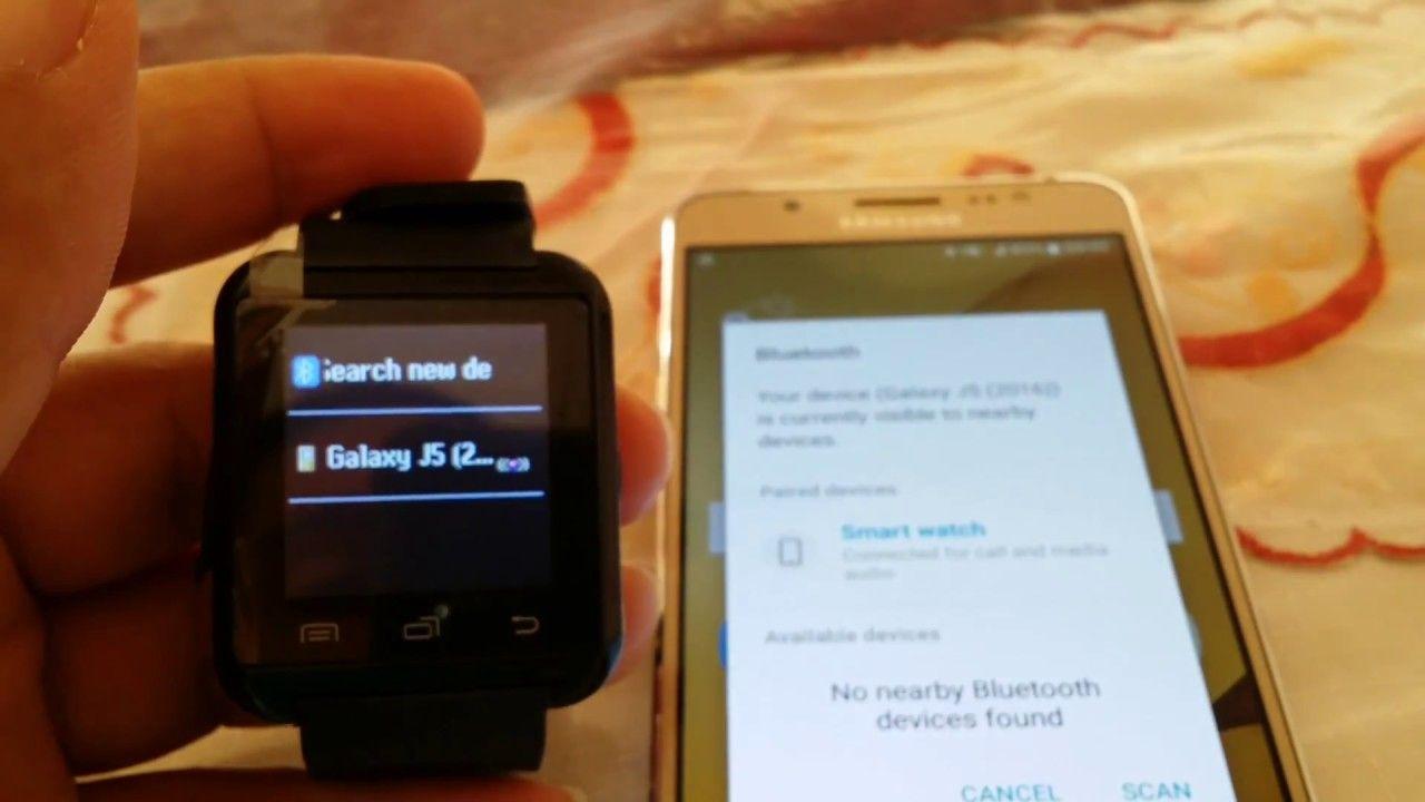 How to pair U8 Smartwatch to Samsung Galaxy J5 | Smart Watch