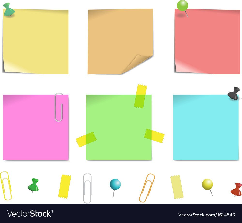 Sticky note paper Royalty Free Vector Image - VectorStock ,