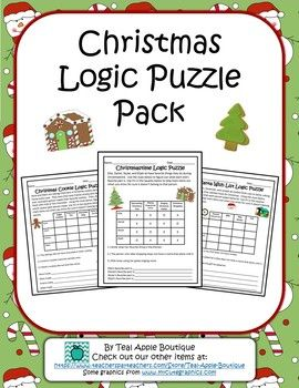 these christmas themed logic puzzles are fun and help with critical thinking and problem solving skills - Christmas Logic Puzzles