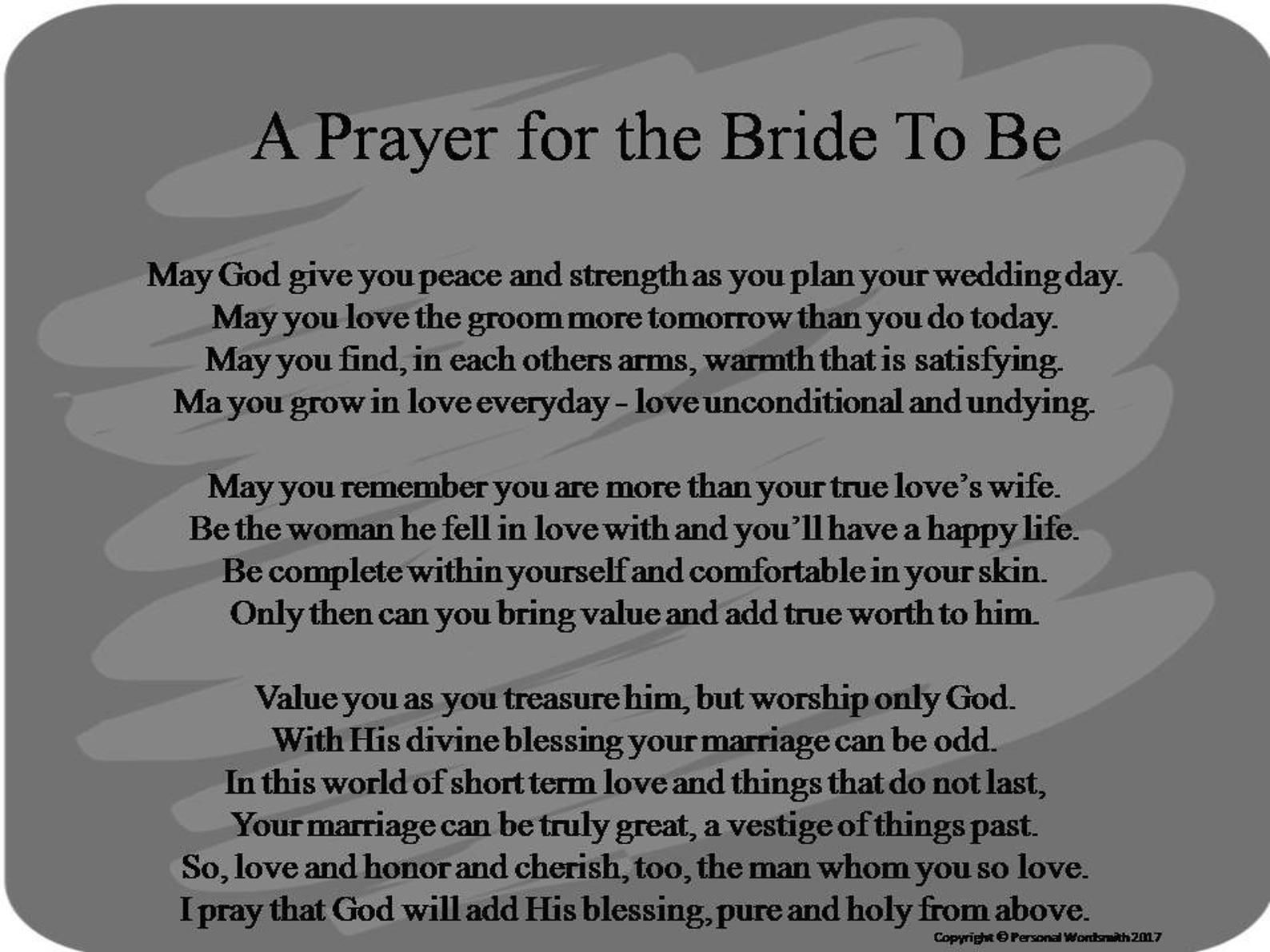 Printable Prayer For The Bride To Be Prayer For Bride Download Bride To Be Poetry Print Marriage Prayer Art Digital Download Prayer In 2020 Printable Prayers Funny Wedding Speeches Bride