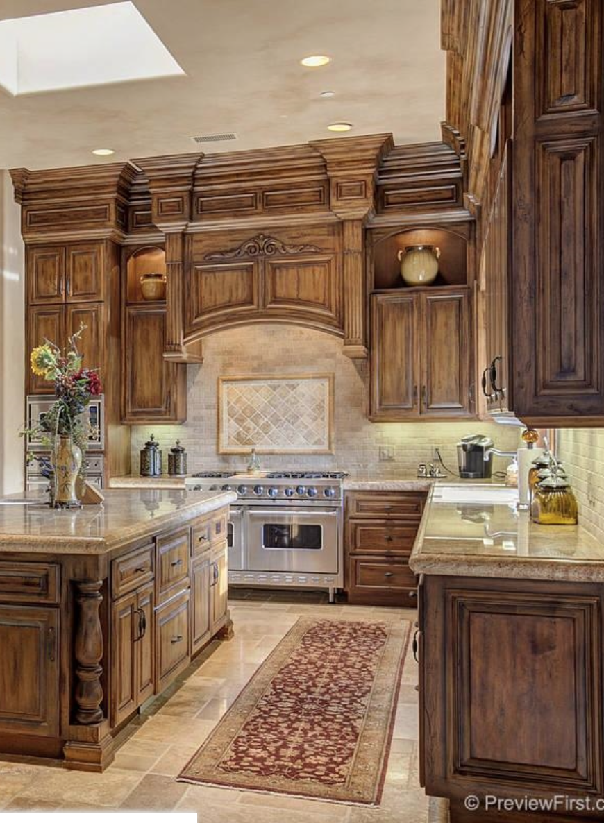Tuscan kitchen kitchen pinterest kitchens house and for Tuscan kitchen designs photo gallery