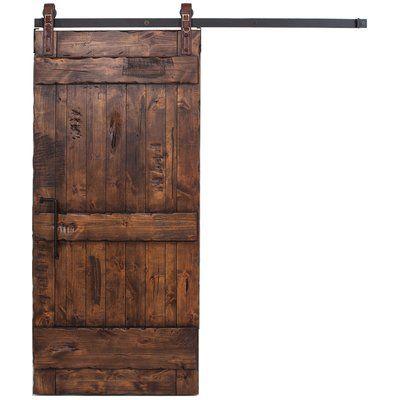 Rusticahardware Ranch Solid Wood Interior Barn Door Size 84 H X 42
