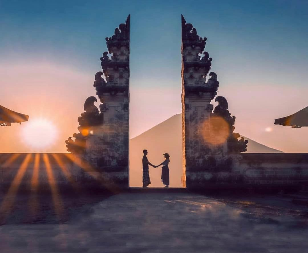 Waiting For The Sunrise From Gates To Heaven In Bali Pura