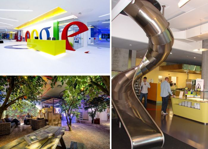 High Tech Corporate Interior Design Google Office Lobby Interiors Design Ideas Pinterest