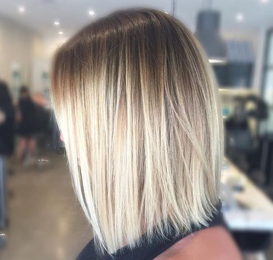 Ombre Blonde Medium Length Hairstyles For Thin Hair
