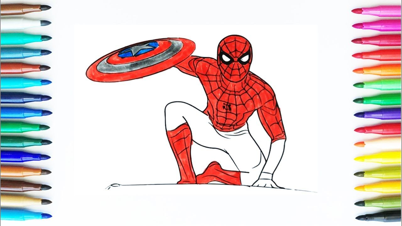 Coloring Pages Spiderman | How To Draw Spiderman | Drawing and ...