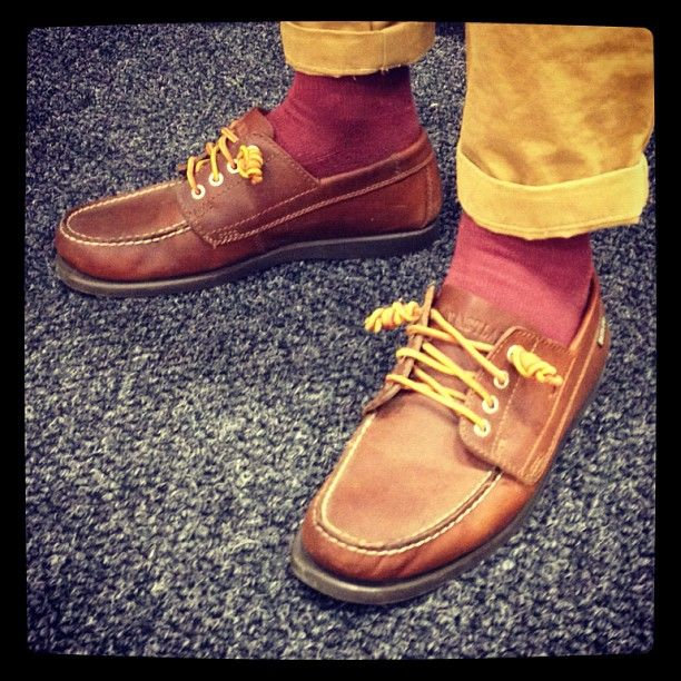 bff159847b60 Great Fall look   Crispymyfriends sporting Eastland Falmouth camp mocs with  the Eastland knot at  capsuleshow  eastlandshoe  boatshoes