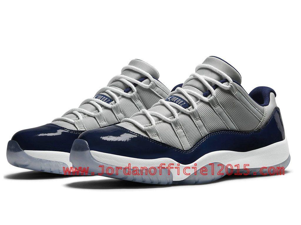"""more photos f18e4 1ea4a Air Jordan 11 Low """"Georgetown"""" Couleur  Low Gris Mist Blanc-Midnight"""