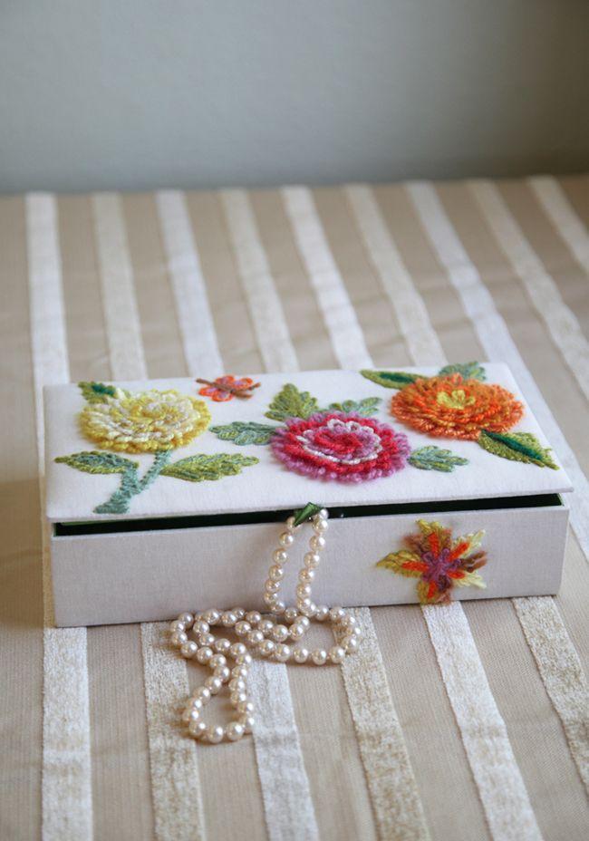 Delightful Days Embroidered Jewelry Box 48.99 at shopruche.com ...
