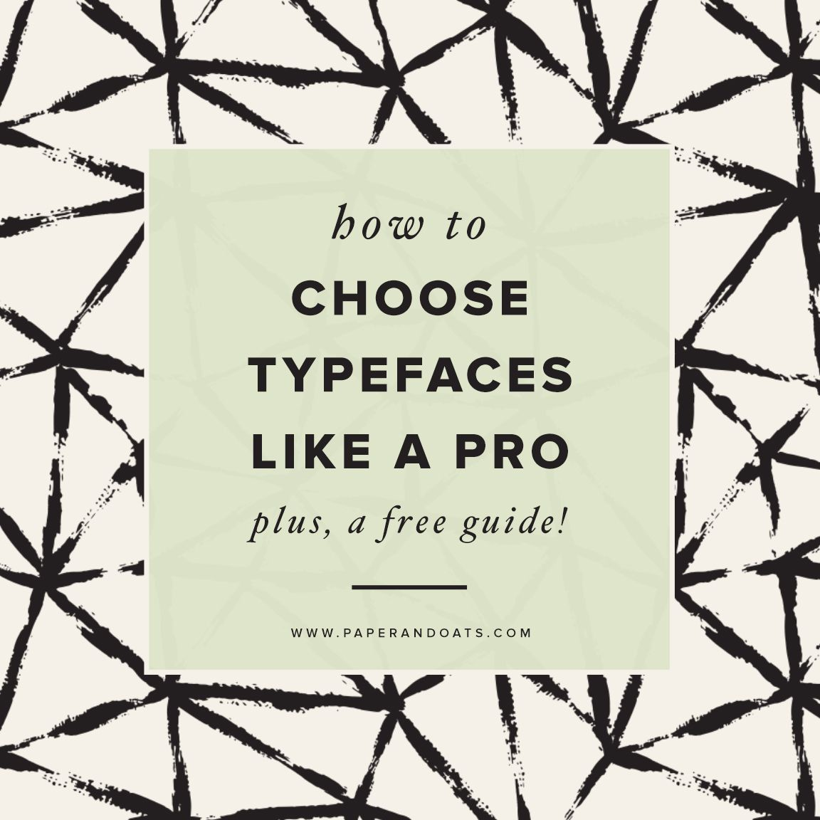 Paper + Oats ? How to choose typefaces like a pro ? plus a free guide!  http://www.paperandoats.com/blog/how-to-choose-typefaces-like-a-pro-plus-a-free-guide
