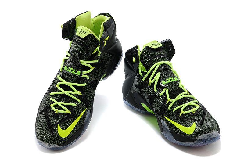 green lebron james shoes