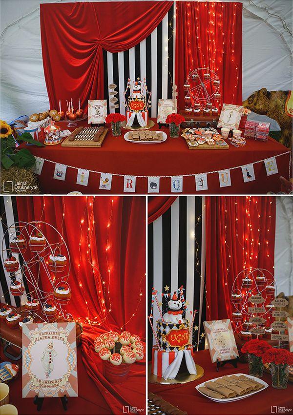 Circus birthday party Second birthday Teminis