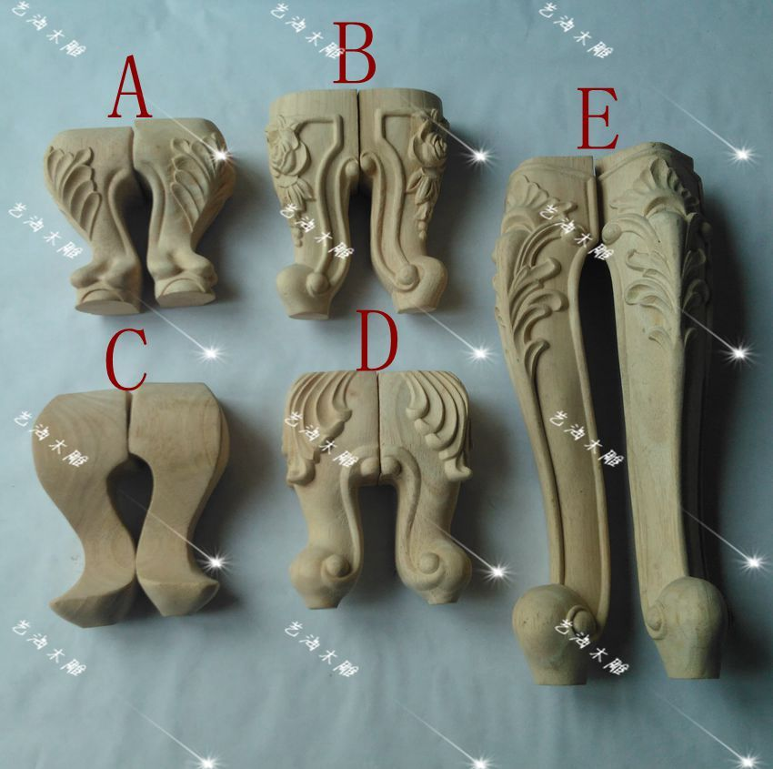 4 PZ/LOTTO, varie specifiche, legno intagliato mobili gambe, armadio ...