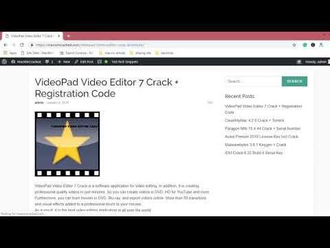free videopad registration code