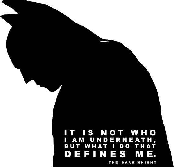 Batman Bat Symbol Bruce Wayne Dark Knight Quote Decal Vinyl