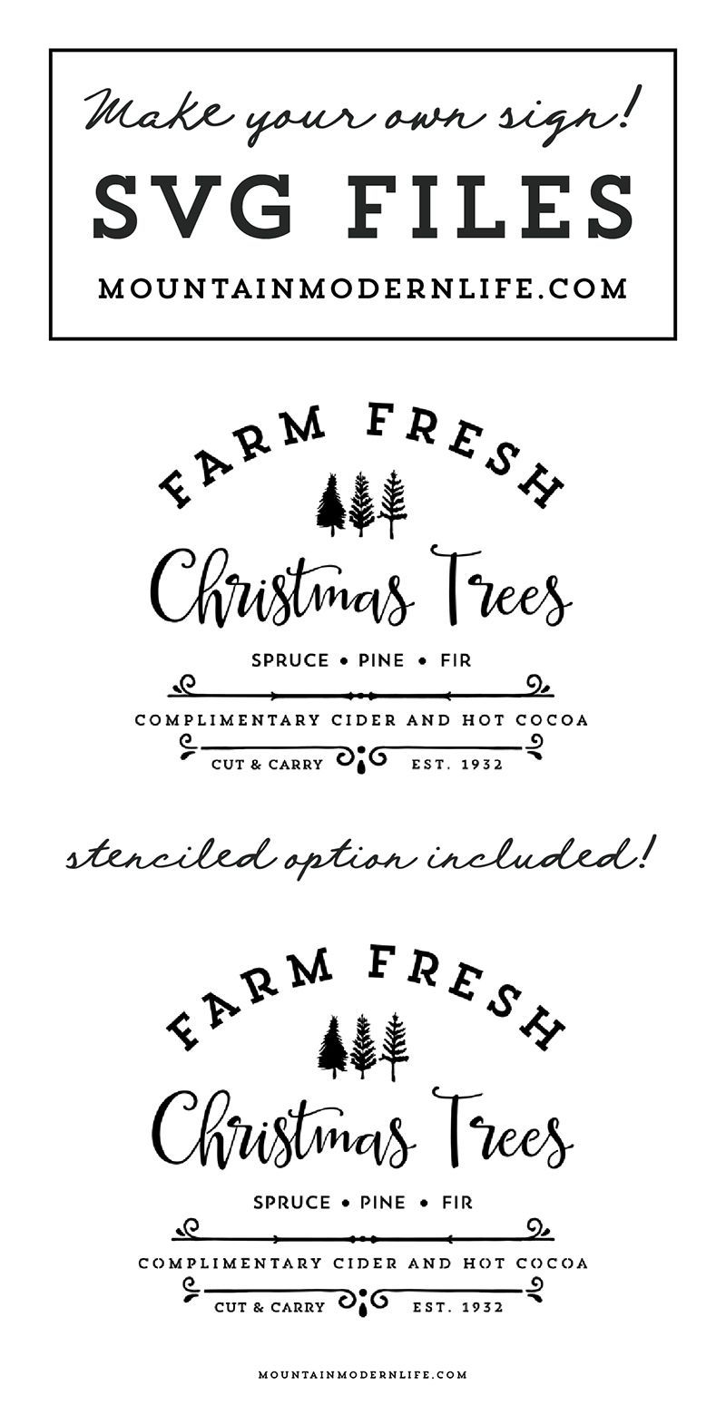 Farm Fresh Christmas Trees SVG File Fresh christmas