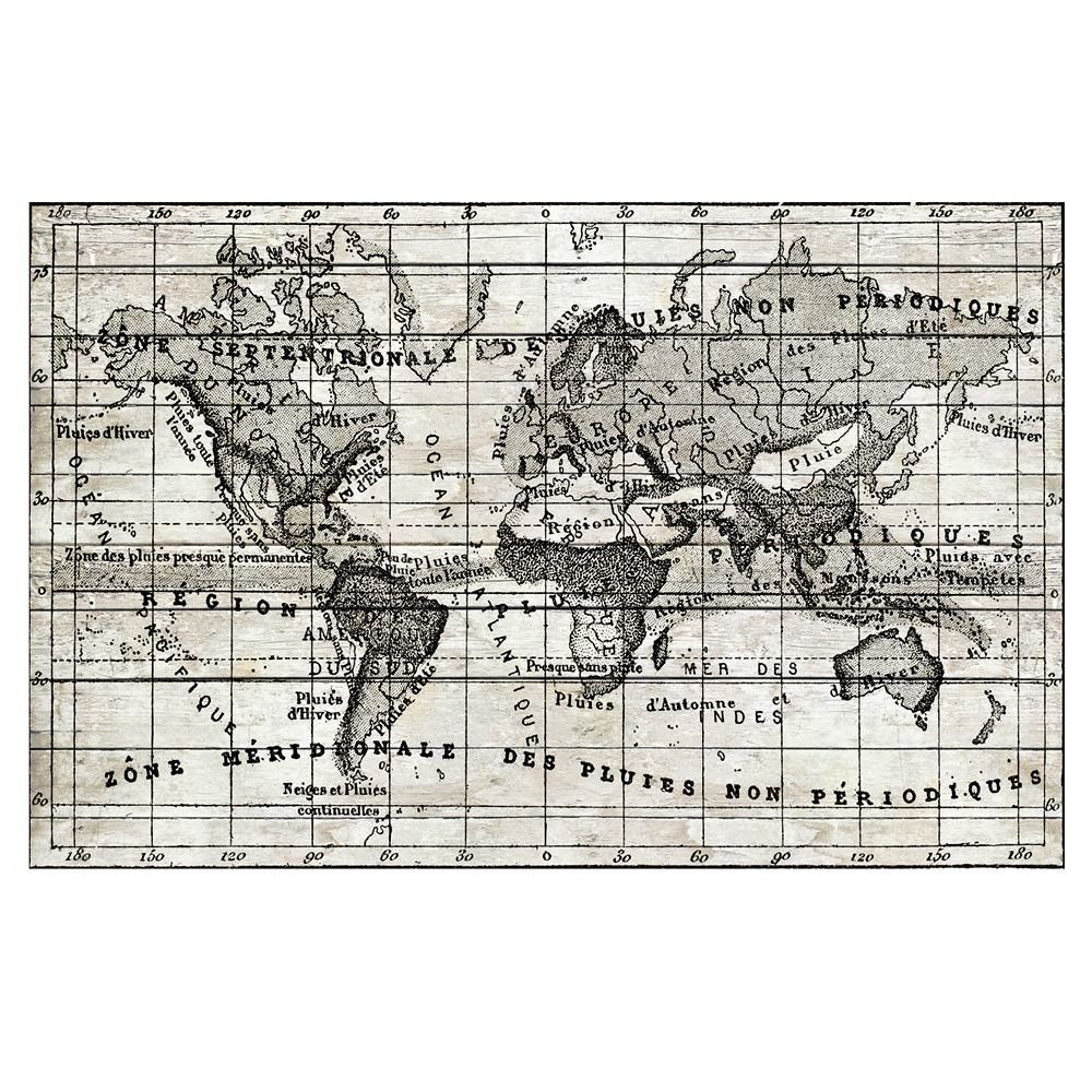 Vintage Map Canvas Print 101x65cm $179