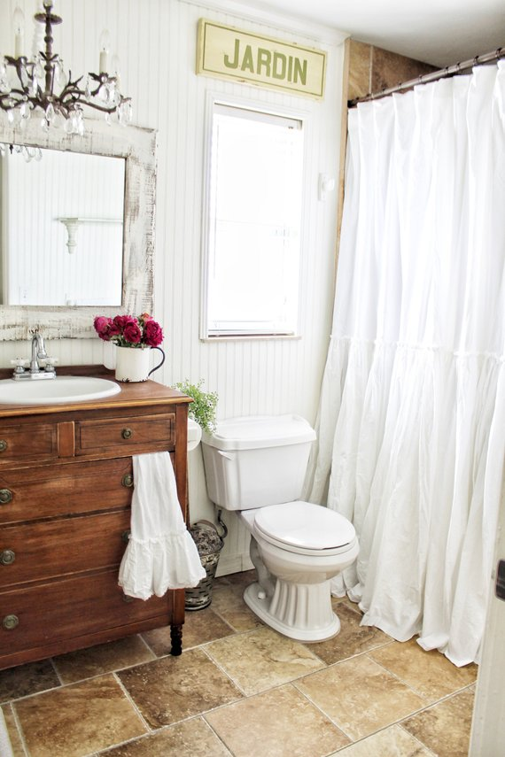 Extra Long Shower Curtains Shabby Chic Ruffled White Shower