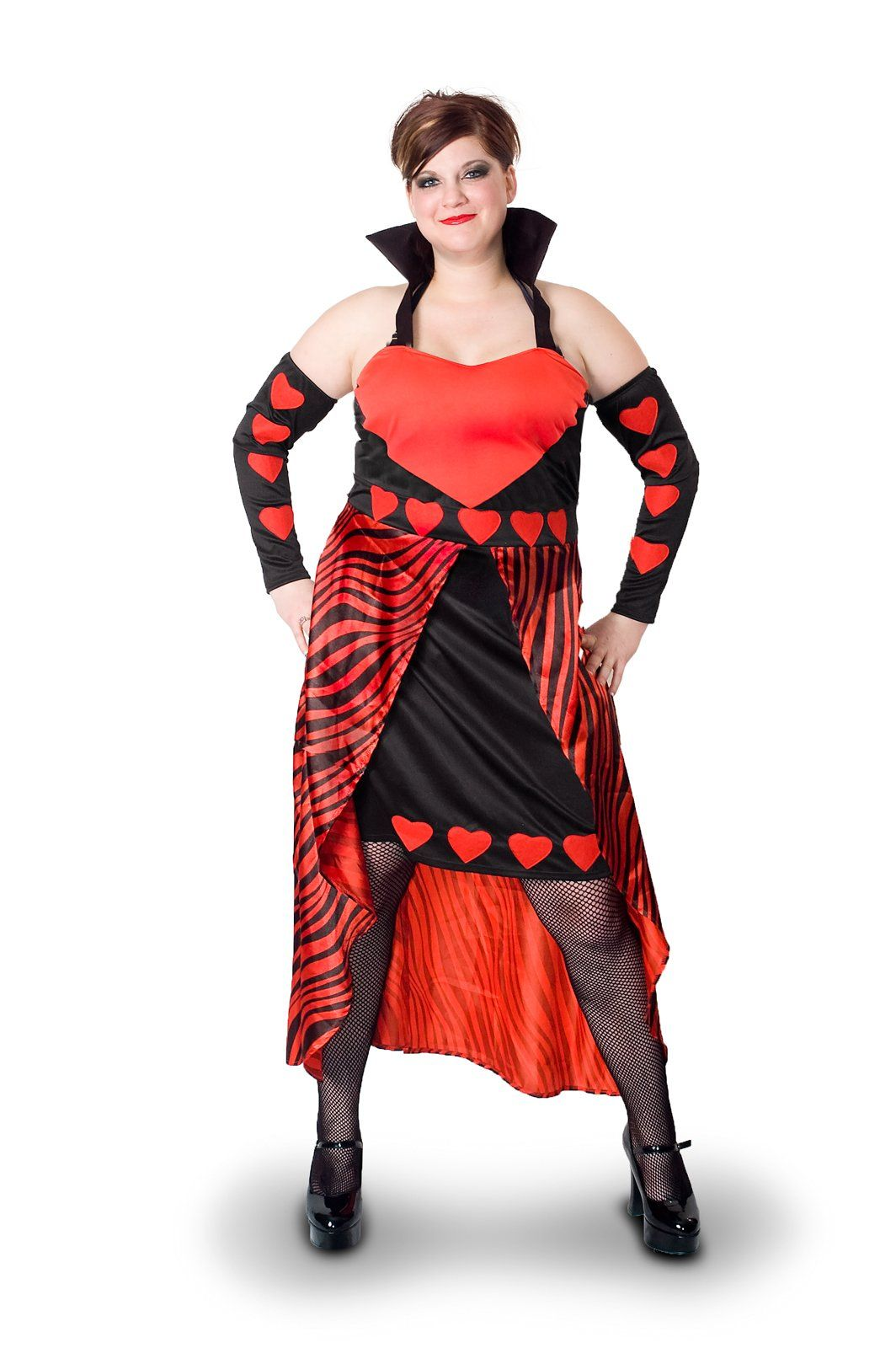Sunnywood Women S Plus Size Lava Diva Queen Of Hearts Costume Red Black 3x Large