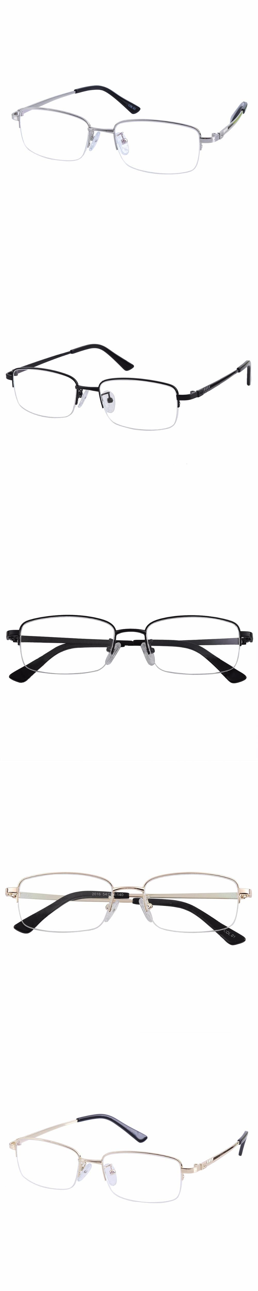 Southern Seas Half Rim Nearsighted Glasses Mens Womens Eyewear Black Silver Gold 0.50 To 6.0 Prescription Myopia Eyeglasses