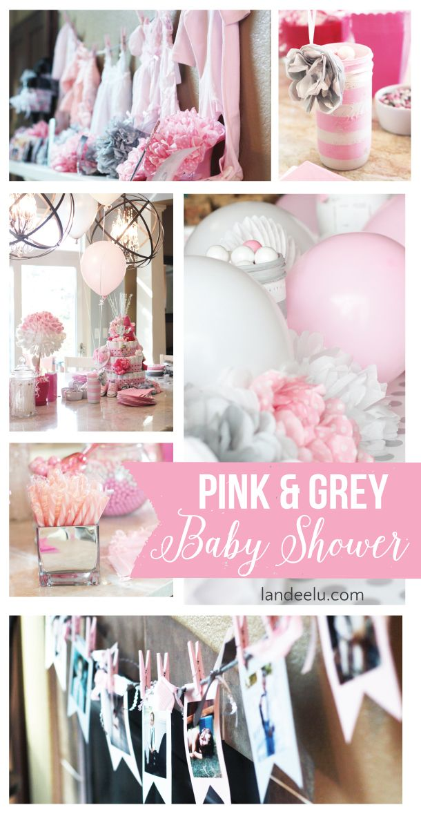 Pink And Grey Baby Shower Pink Gray Baby Shower Pinterest
