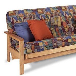 Rockport Chair Futon Frame W Mattress Futon Futon Frame Futon Slipcover Wooden futon frame and mattress set