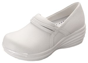 White Nursing School Shoes Clark S Leather Axiom Step In In White
