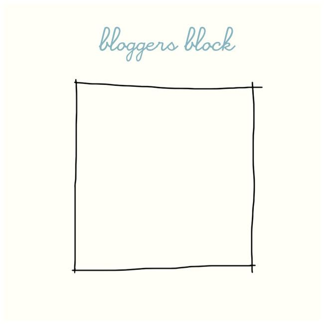 bloggers block. happens to a good blogger once in a while.