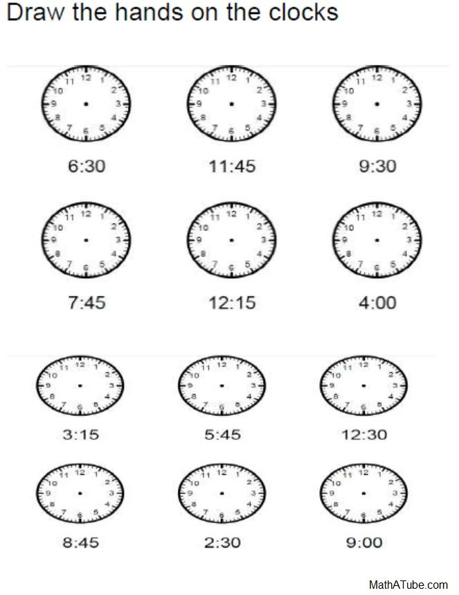 Printable Worksheets telling time in spanish printable worksheets : Free Telling Time Worksheets, Missing hands Time Clock ...
