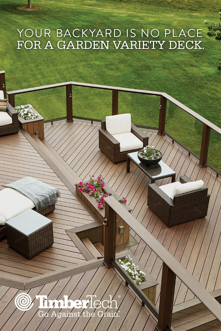 Deck Cost Calculator Composite Deck Pricing Estimate Timbertech Backyard Patio Backyard Patio Deck Designs