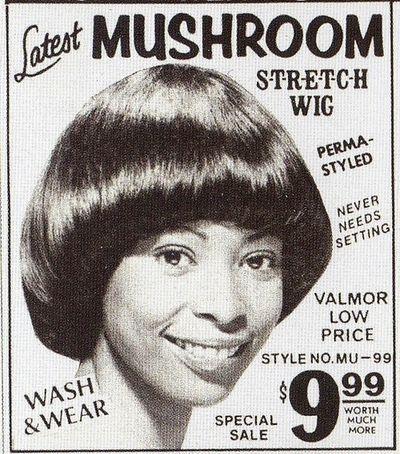 1970s mushroom wig ad remember