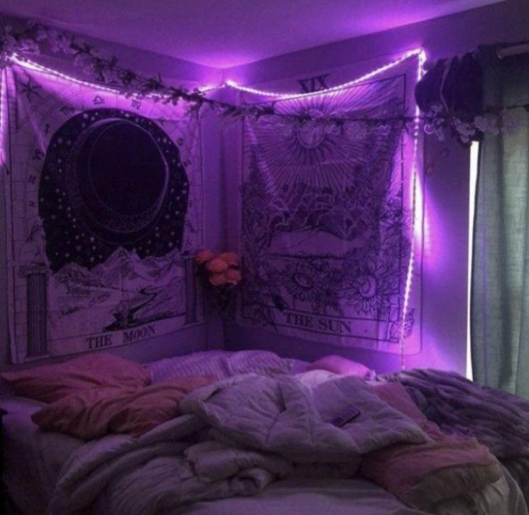 Edge Led Purple Lights Neon Room Dorm Room Decor Grunge Room