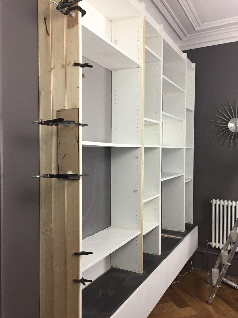 Ikea Billy Bookcase BuiltIn Hack designsixtynine in