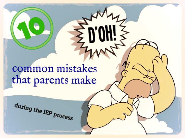 iep process parent mistakes