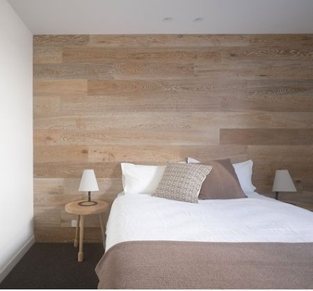 pared madera cama MADERA Pinterest Camas, Madera y La cama - paredes de madera
