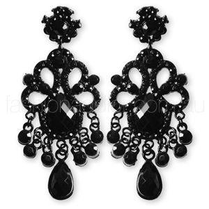 black jewel | Jewels | Pinterest | Jewel, Chandelier earrings and ...