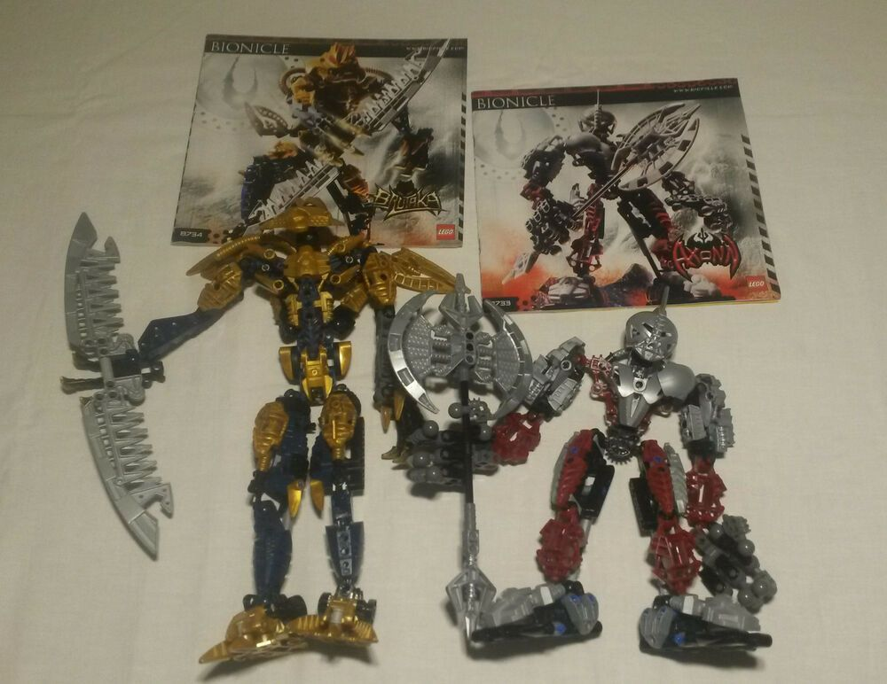Lego Bionicle Axonn Brutaka With Instructions Extremely Rare