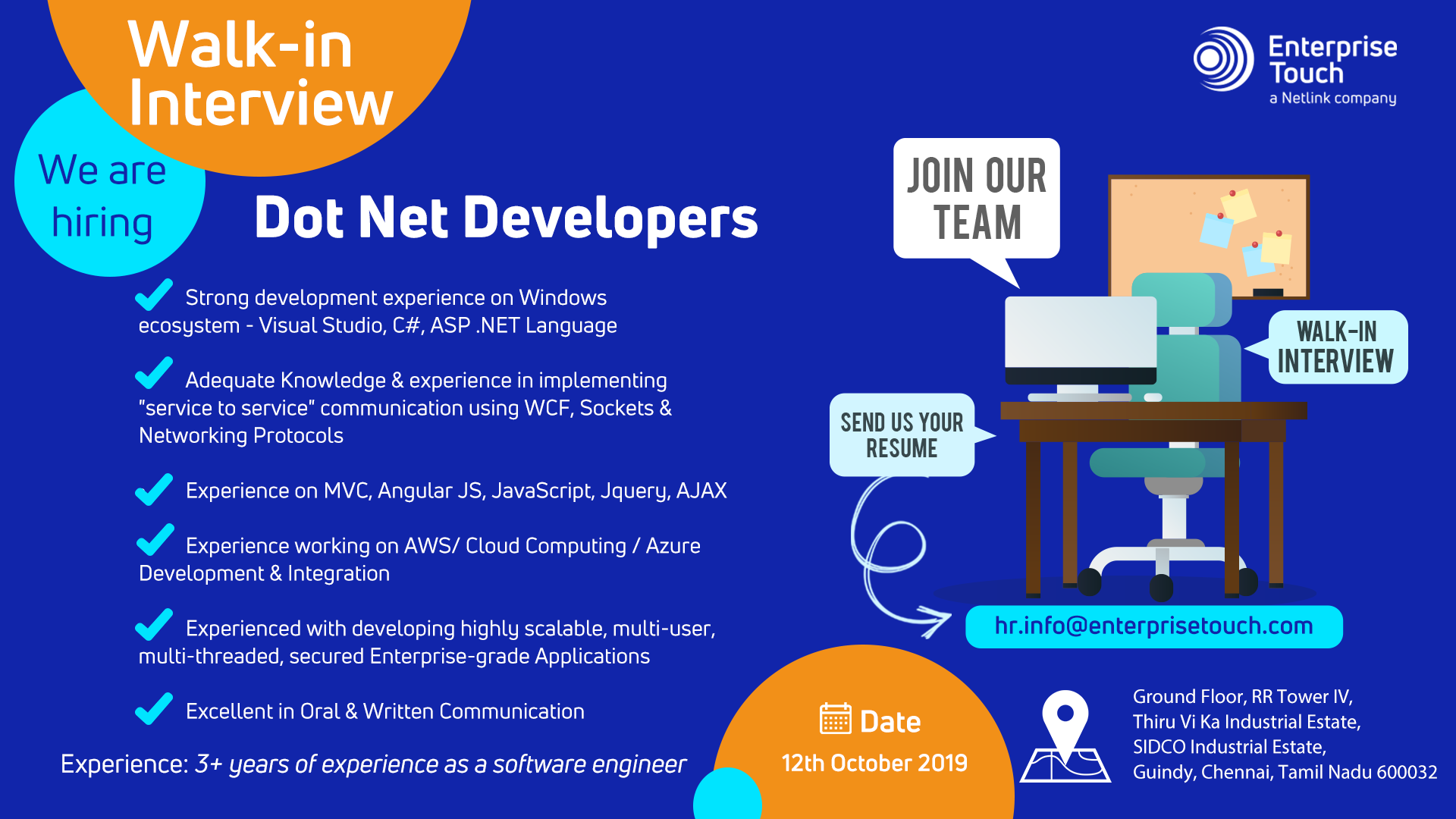 We Are Hiring Dotnetdevelopers Digital Transformation We Are Hiring Resume No Experience