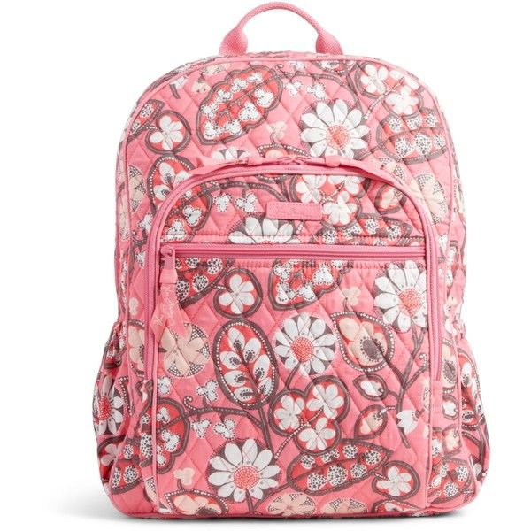 Vera Bradley Campus Backpack in Blush Pink ( 109) ❤ liked on Polyvore  featuring bags, backpacks, blush pink, vera bradley bags, red cross backpack,  ... 5fc247f393