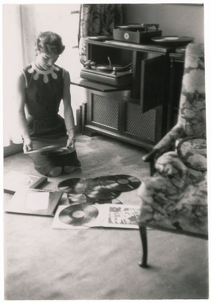 Jackie playing records