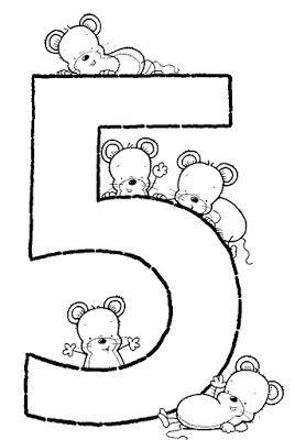 Numero 5 Numbers Preschool Abc Coloring Pages Math Activities Preschool