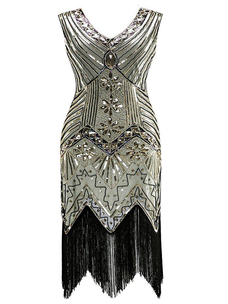 Plus Size 1920s Sequined Dress Great Gatsby Dresses Vintage Dresses Pretty Dresses