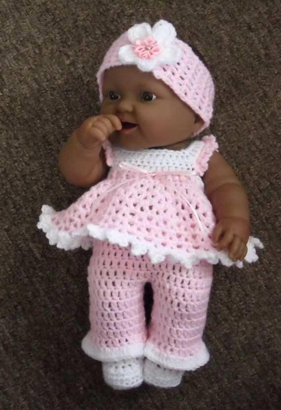 Pdf Crochet Pattern For 14 Inch Berenguer Lots To Love Baby Etsy In 2020 Baby Doll Clothes Patterns Crochet Doll Clothes Free Pattern Baby Doll Clothes