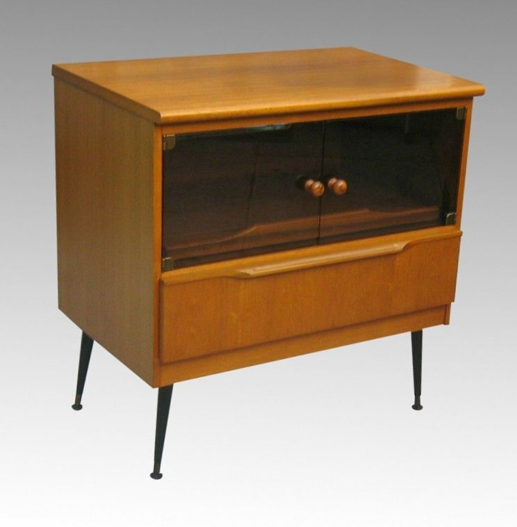 Vintage Retro Teak Tv Stand Sideboard Storage Cabinet Ebay