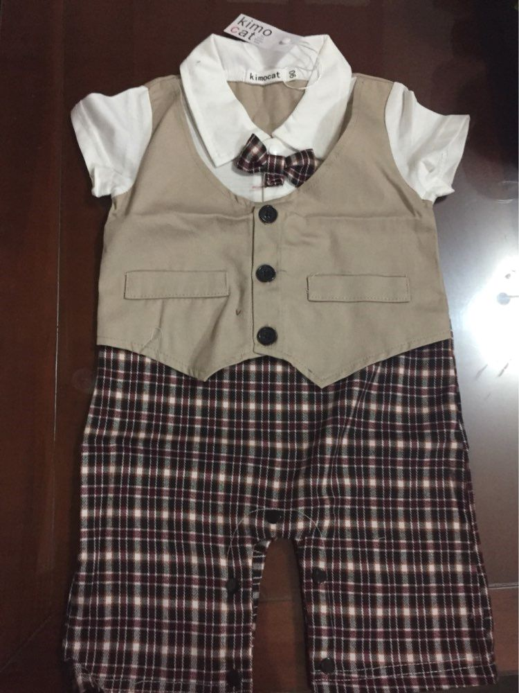 1cefe4e59 Cute Gentleman Baby Rompers Baby Pajamas