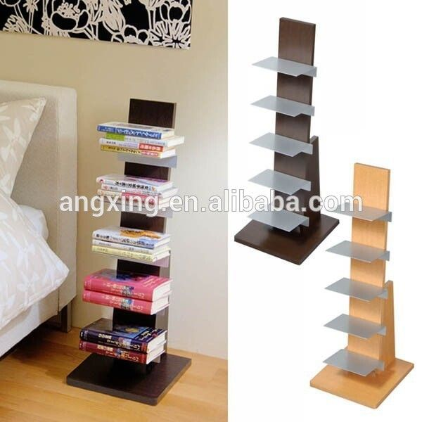 Book Light Wooden Stand Handy Book Display Stand With 5 Metal
