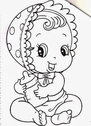 Desenho De Bebe Menina Para Pintar Jpg 314 432 Bebe Desenho