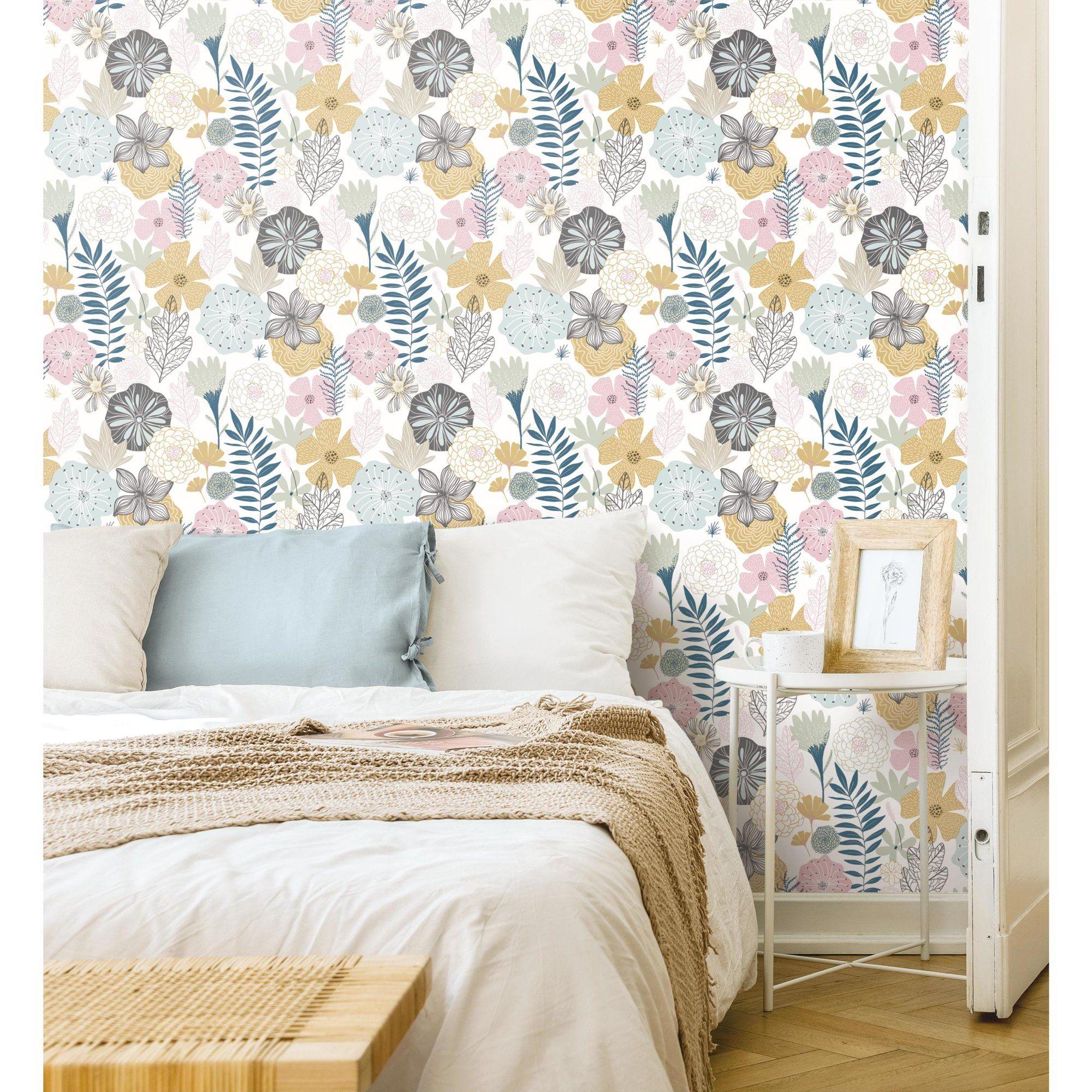 Roommates Perennial Blooms Peel And Stick Wallpaper Walmart Com Home Decor Peel And Stick Wallpaper Decor