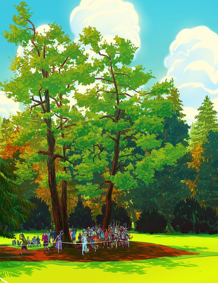 Image of The Masters 9th Hole Giclée Print by Nathan Fox